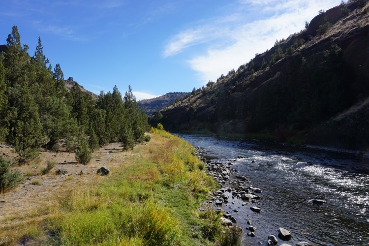 We took a detour along the scenic 43 mile Lower Crooked River Back Country Byway.