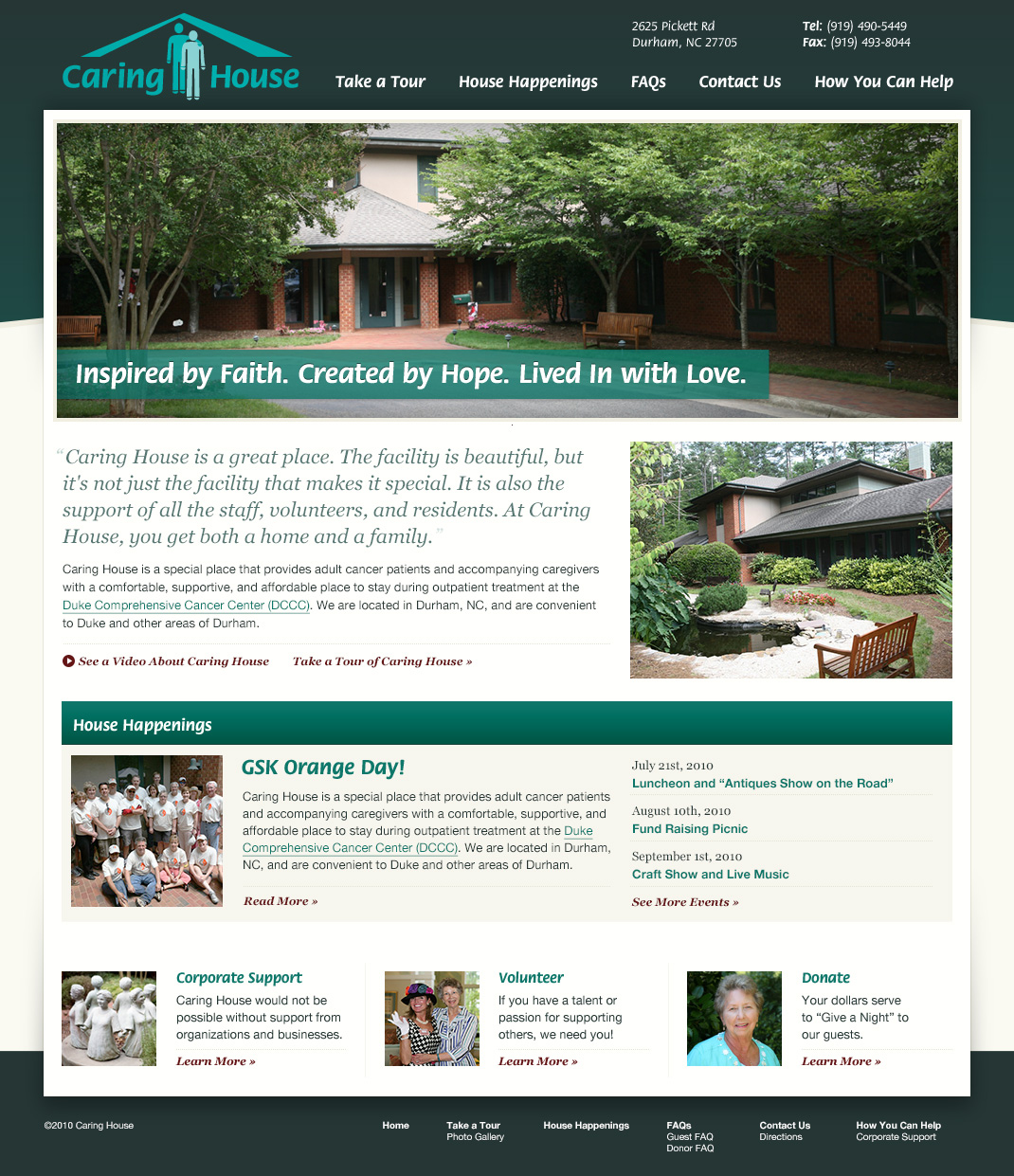 Original Caring House website