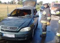 Pożar samochodu osobowego w Szycach
