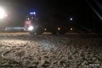 Pożar pustostanu w Wierzbicy (1)