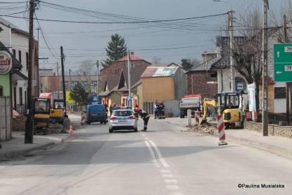 Awaria gazociągu w Ogrodzieńcu (2)