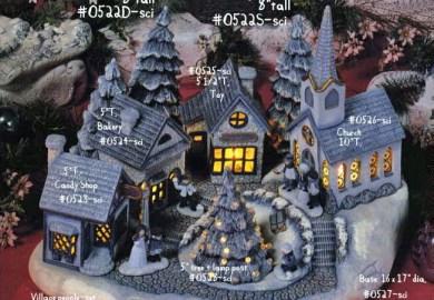 Unpainted Christmas Village Pieces For Sale