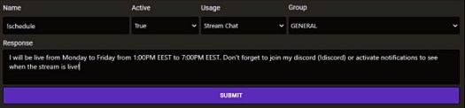Streamlabs Chatbot Timers