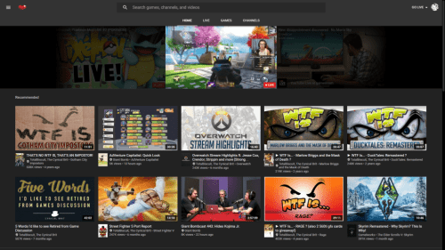 youtube gaming home page