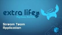 ExtraLife Stream Team Application