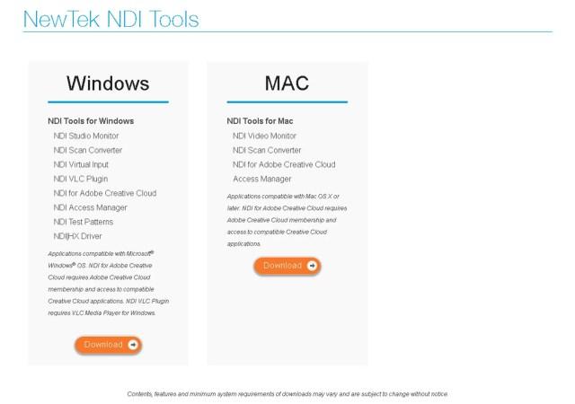NewTek NDI Tools