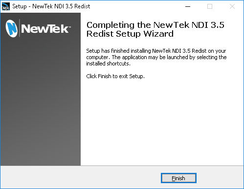 NewTek NDI Runtime