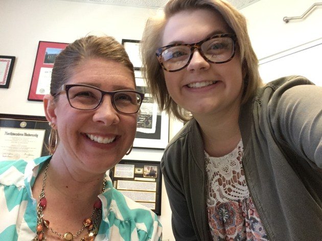 Dr. Angela Pannier and Katy Bagniewski