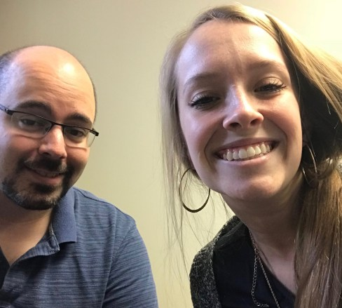Dr. James Schnable and Rylie Kalb