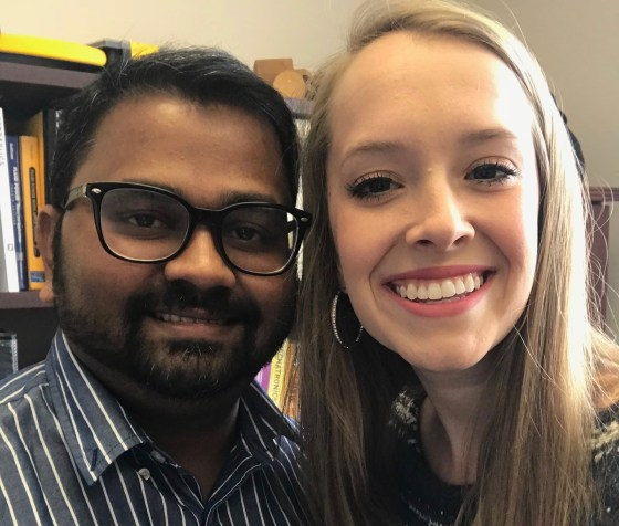 Dr. Santosh Pitla and Rylie Kabl
