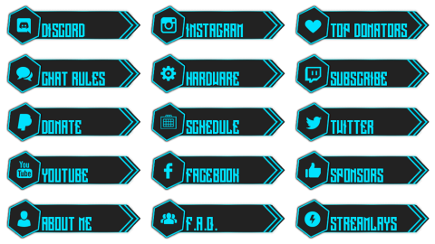 twitch buttons info
