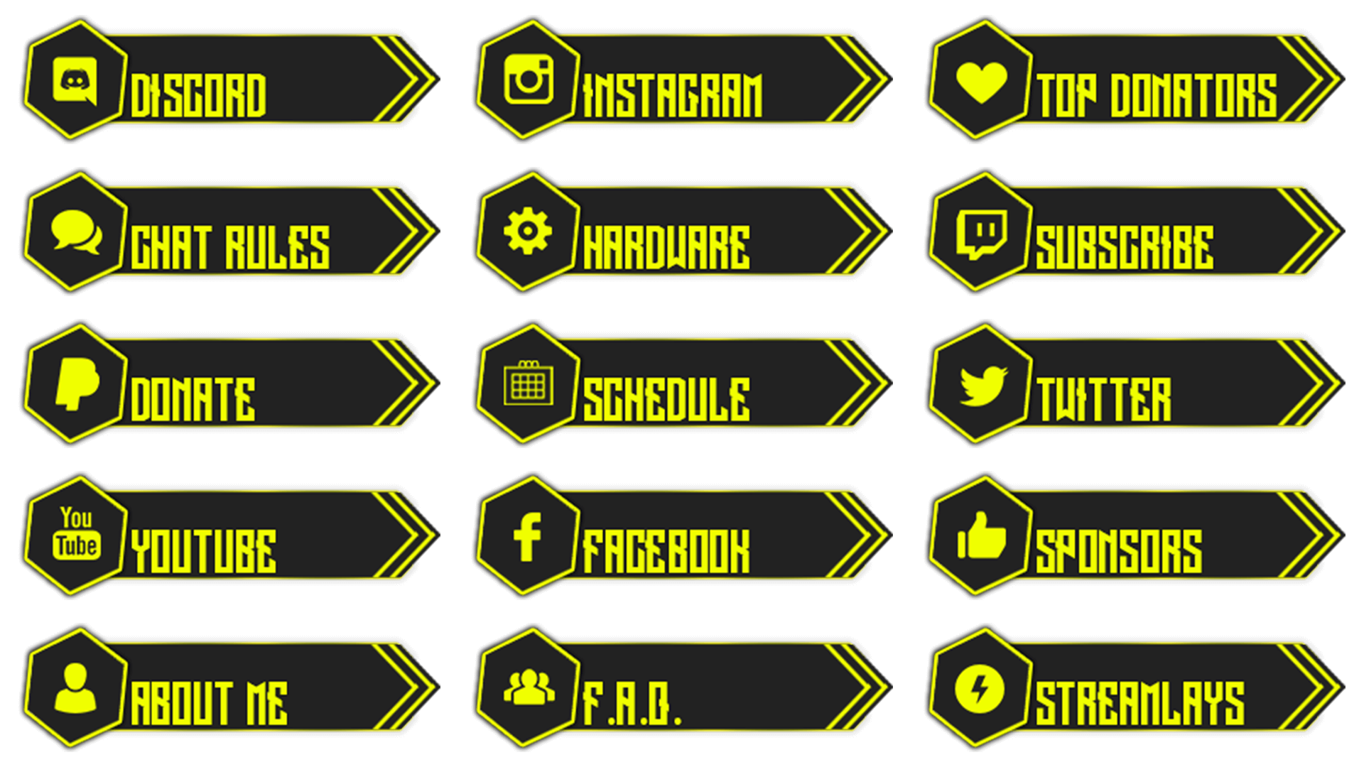 free twitch panels yellow