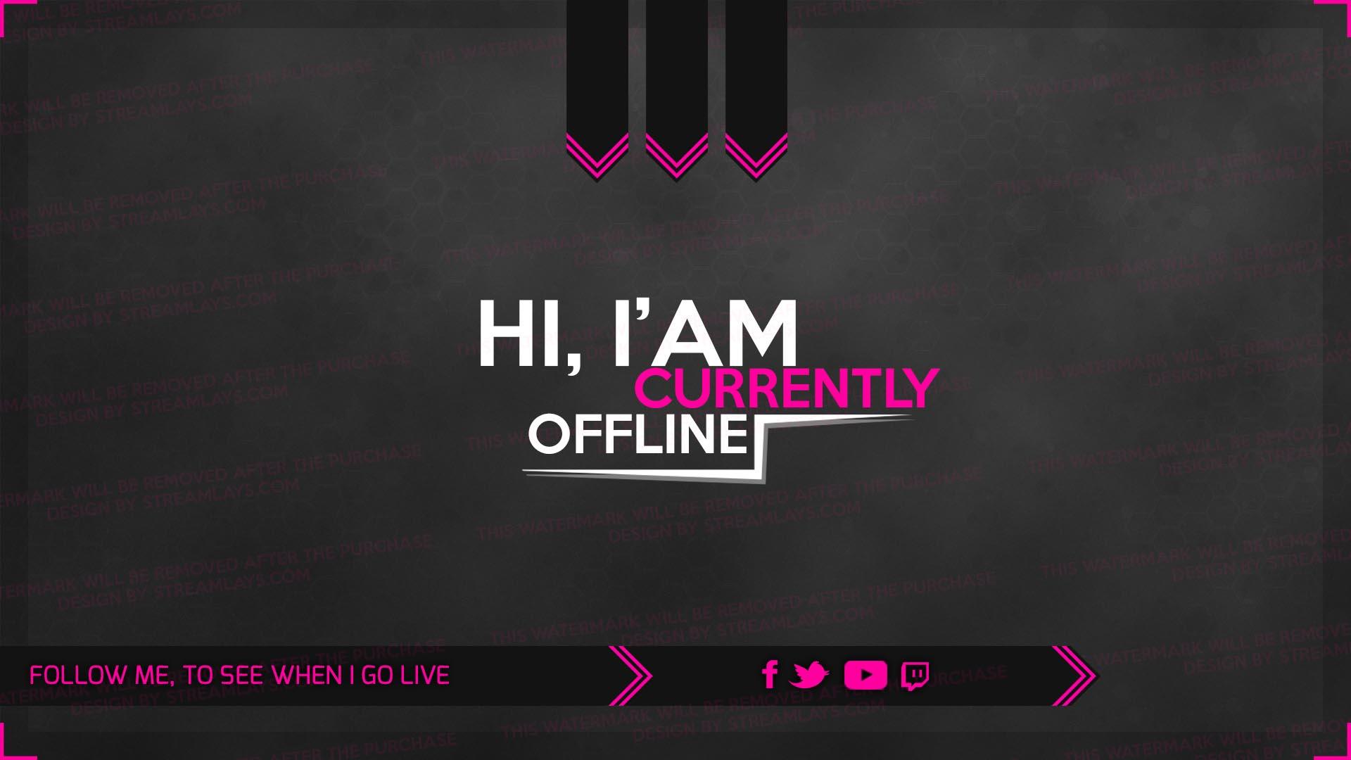pink offline screen woman