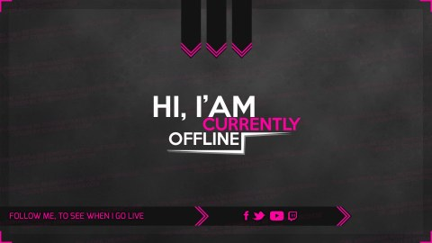 pink offline screen woman