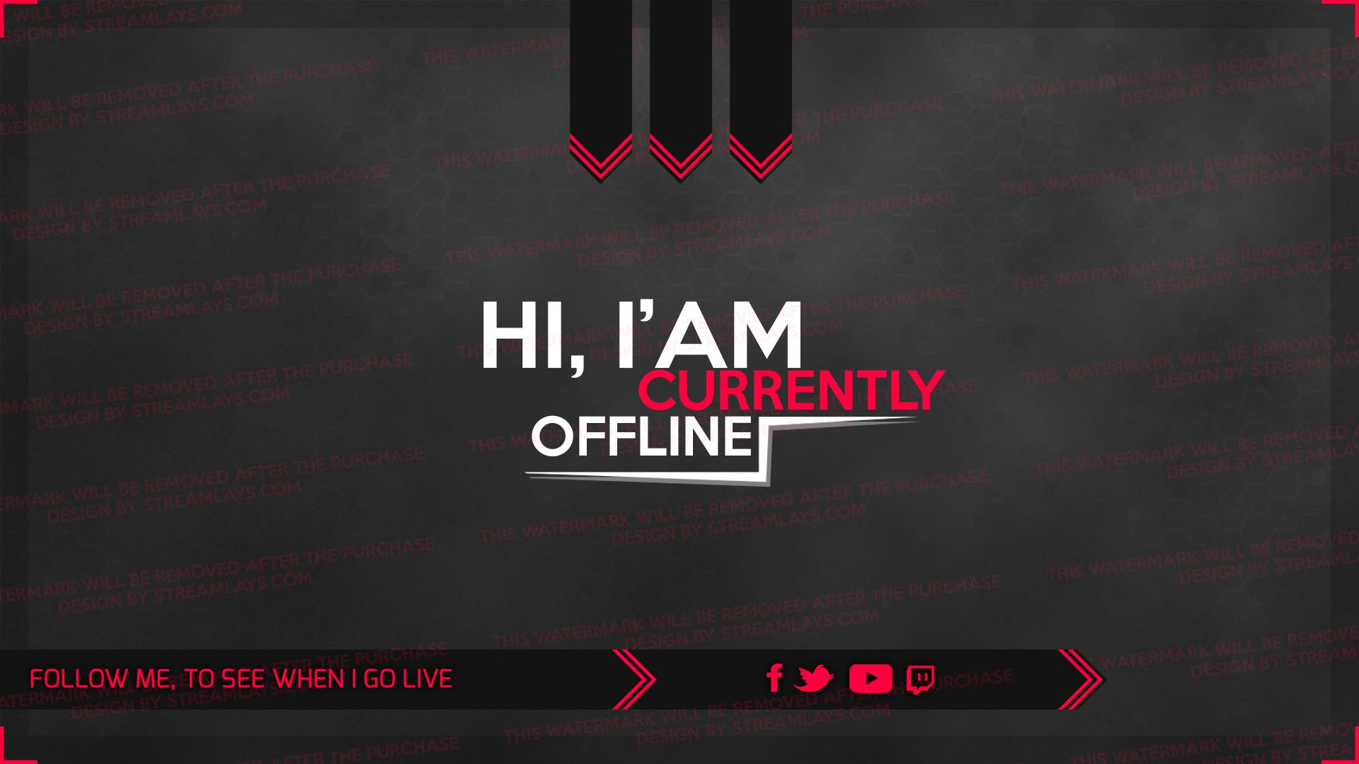 alpha - offline screen twitch - with psd template