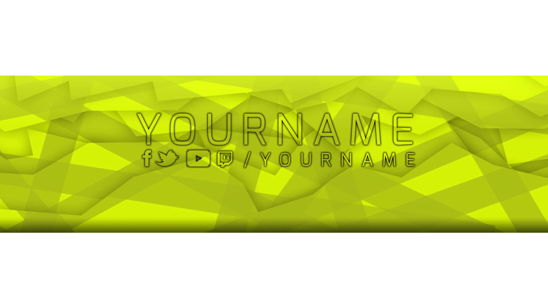 yellow twitch banner