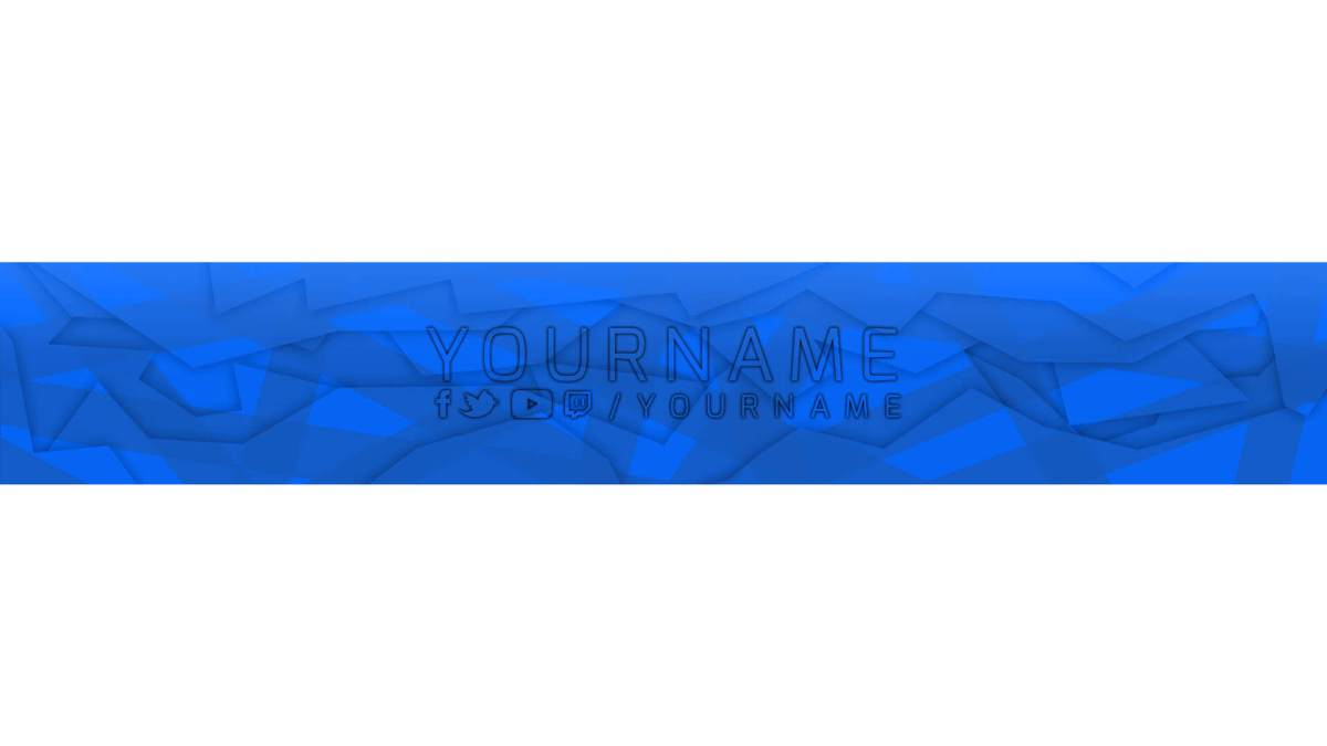 psd banner youtube template