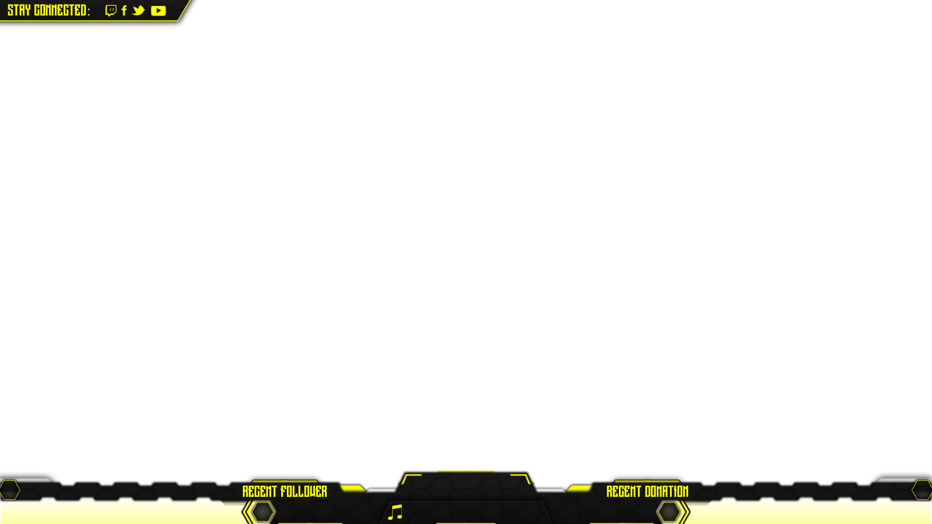 twitch overlay yellow psd