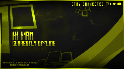 twitch offline screen yellow