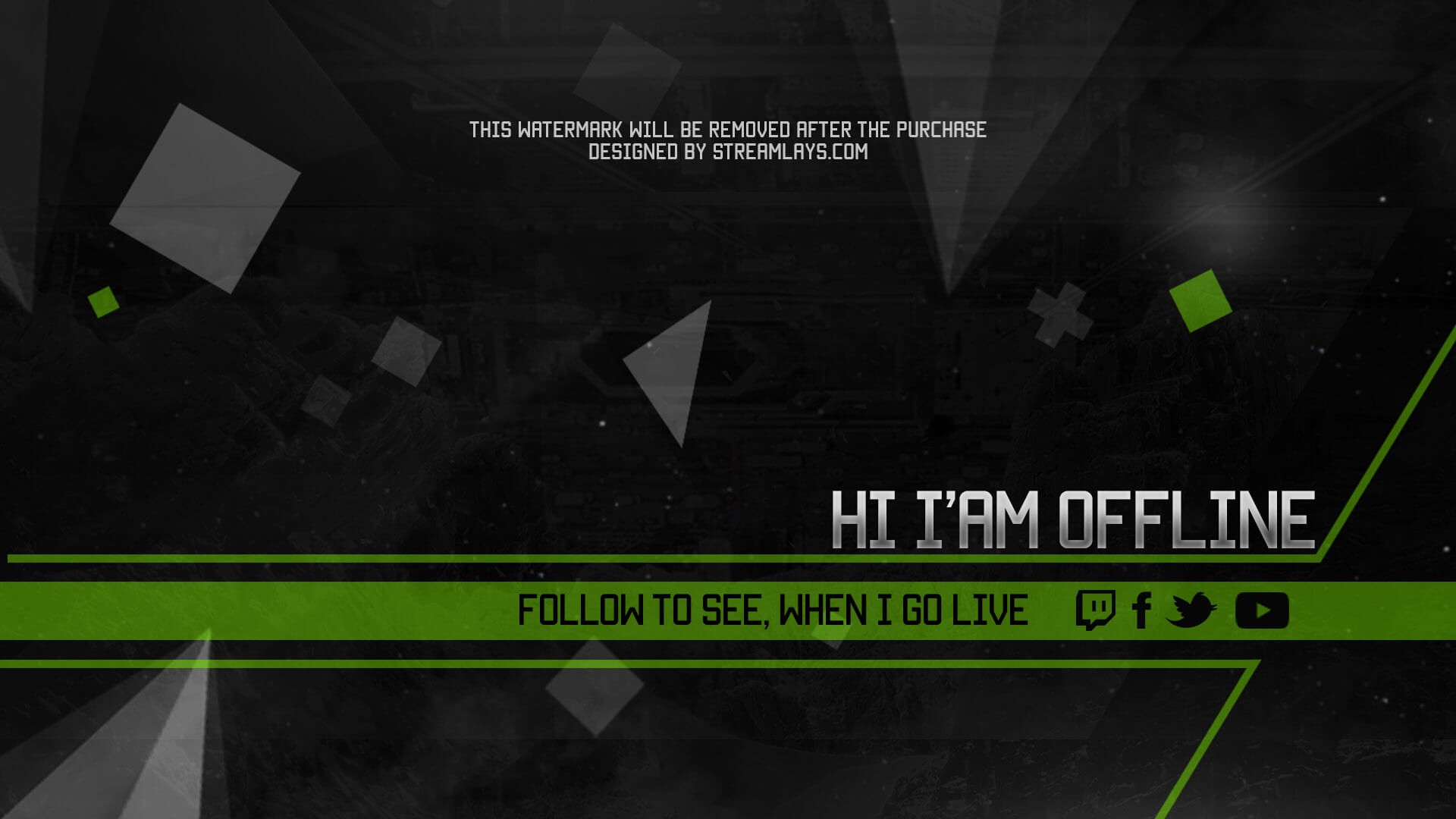 Alpha Offline Screen Twitch With Psd Template Download