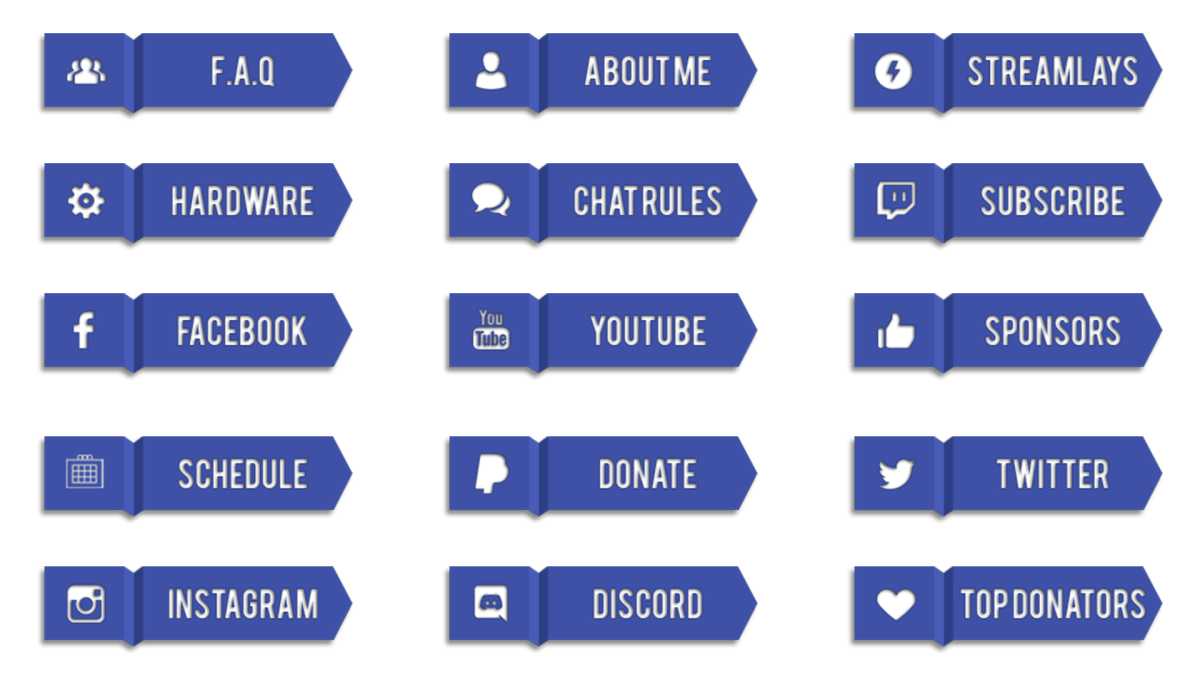 free twitch buttons