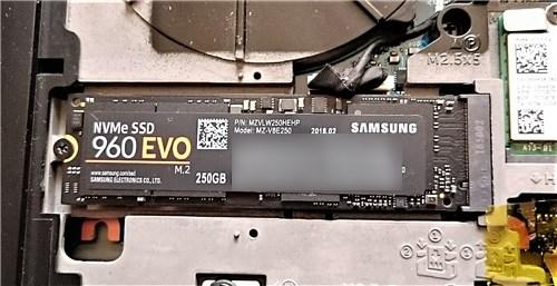 Inspiron 15 ゲーミング M.2 SSD取り付け結果