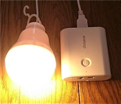 電球型LEDライト 点灯時