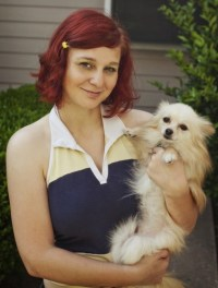 Elly and her dog Bowie - Streamlined Gaming