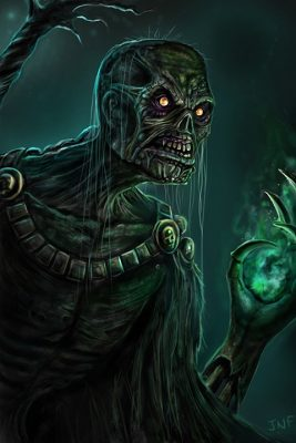 Drawing of an Undead Priest by The Noble Artist