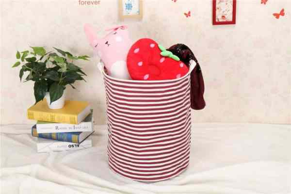 Tall hamper toy organizer and storage container