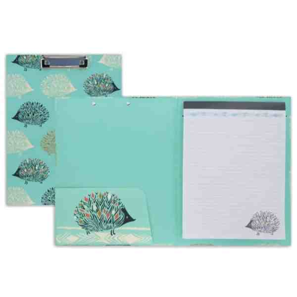 hedgehog pad folio with clipboard