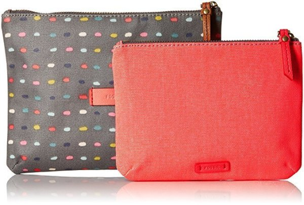fossil keely double pouches