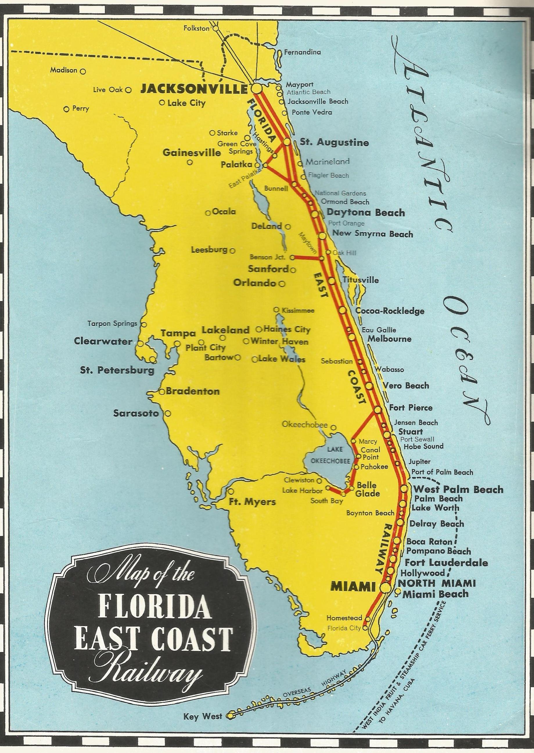 S Florida East Coast Railway Booklet