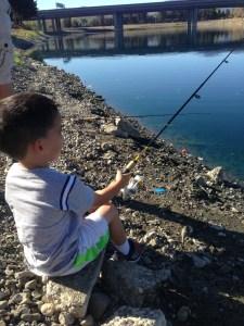 Caden fishing