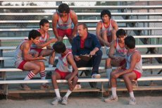 Kevin Costner and his team in 'McFarland, USA'