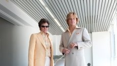 Michael Douglas as Liberace and Matt Damon as Scott Thorson in Behind the Candelabra