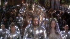 Nigel Terry is King Arthur and Cherie Lunghi his Guinevere in John Boorman's 'Excalibur.'