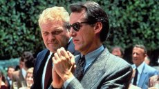 Brian Dennehy and James Woods as cop and killer in 'Best Seller,' written by Larry Cohen and directed by John Flynn