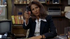 Pam Grier is Jackie Brown in Quentin Tarantino's film of Elmore Leonard's novel 'Rum Punch'
