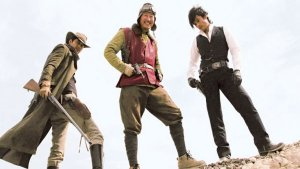 Woo-sung Jung, Byung-hun Lee, and Kang-ho Song in the Korean action blast from Kim Jee-Woon