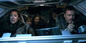 Molly Parker, Max Jenkins, Mina Sundwall, Parker Posey, and Toby Stephens in the remake of the 1960s science fiction series