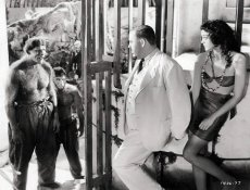 Charles Laughton and Kathleen Burke in the 1932 horror classic based on H.G. Wells' 'The Island of Dr. Moreau'