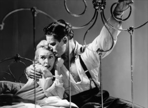 Charlton Heston and Janet Leigh in the film by Orson Welles