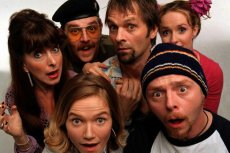 Jessica Hynes, Simon Pegg and friends in their BBC sitcom directed by Edgar Wright