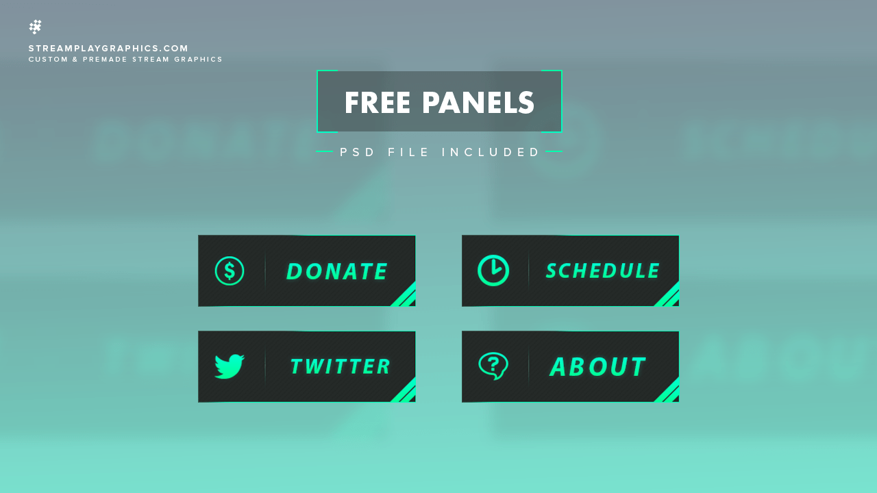 simple twitch panels streamplay