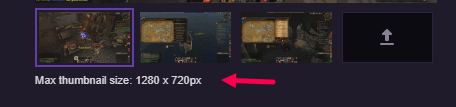thumbnail size for Twitch VODs