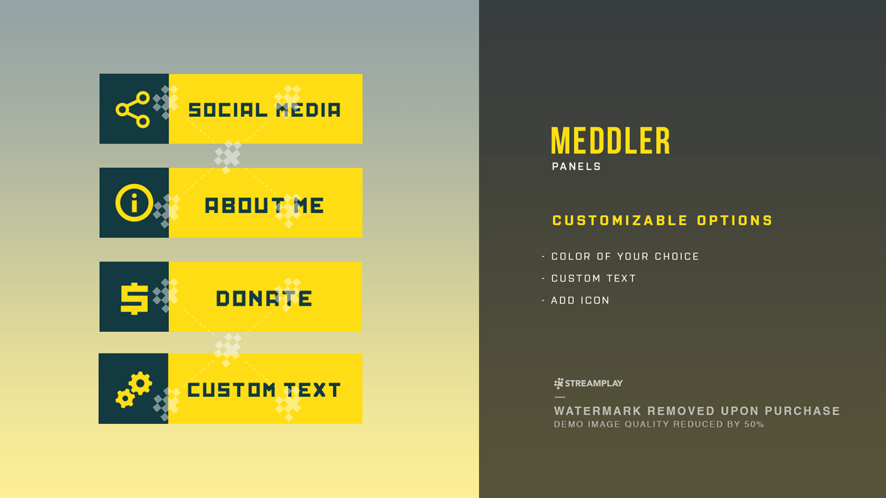 Meddler Twitch Panels Streamplay Graphics