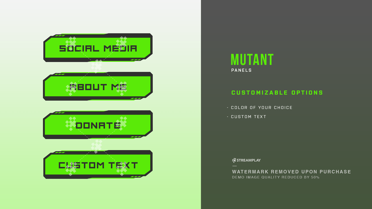 mutant twitch panels streamplay graphics. Black Bedroom Furniture Sets. Home Design Ideas