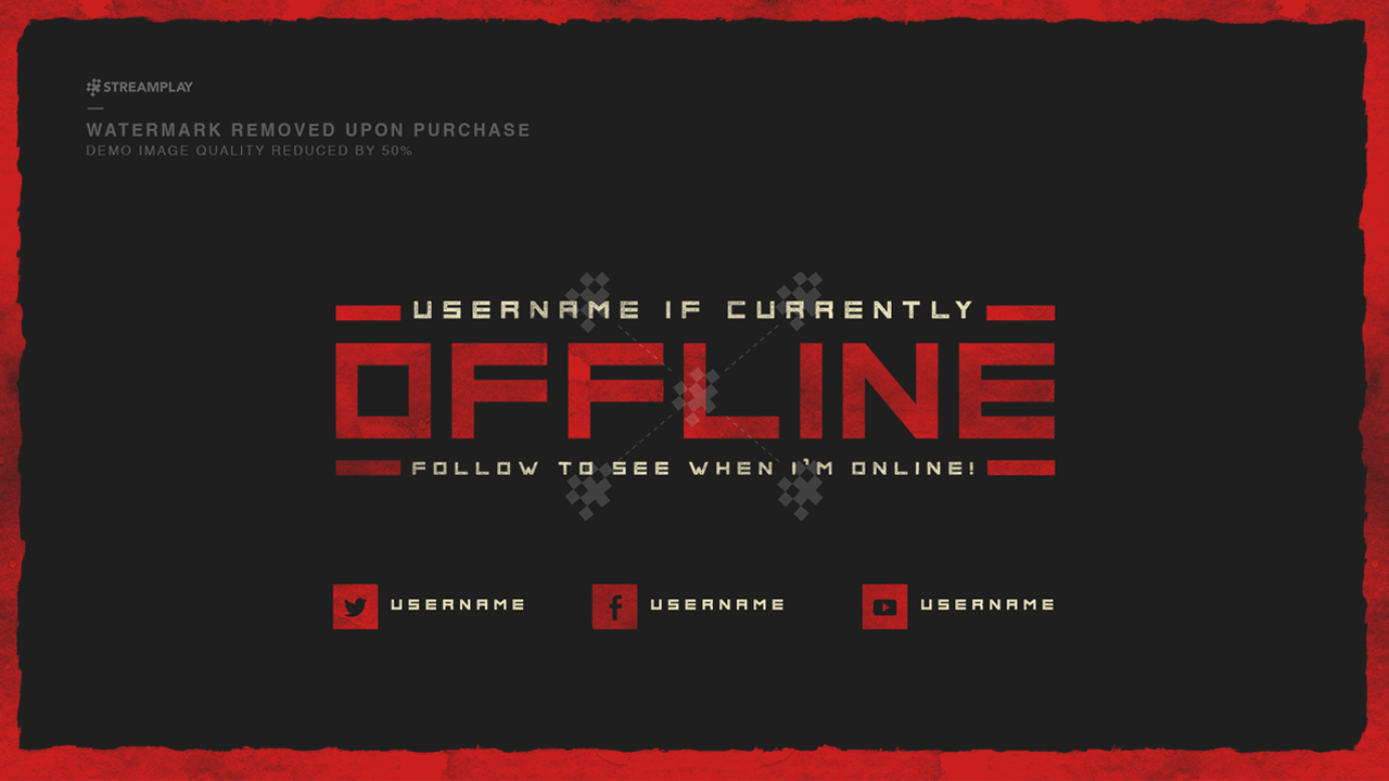 twitch offline banner templates offline screens for your twitch channel. Black Bedroom Furniture Sets. Home Design Ideas