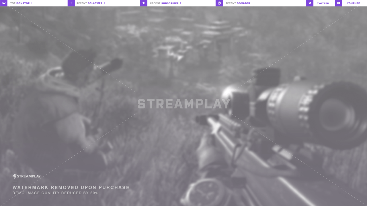 purple twitch overlay